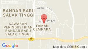 Taman Cempaka location map