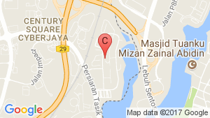 MyDiva Homes @ Perdana Lakeview East Cyberjaya location map