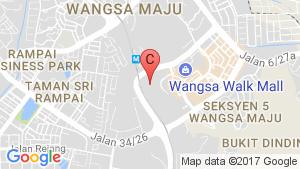 THE HAMILTON@WANGSA MAJU location map