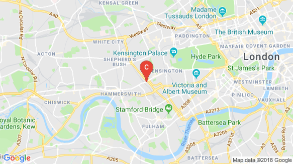 Kensington Row location map